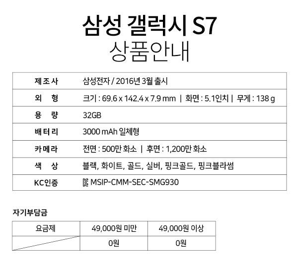 삼성 갤럭시 S7 상품안내